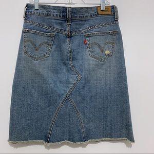 Levi's Denim Jean Midi Skirt Size 6